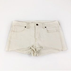 Madewell Cream Denim Cutoff Denim Shorts